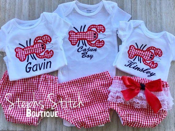 Boy crawfish outfit set