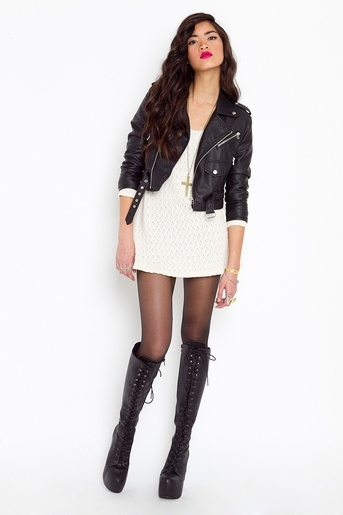 96 best images about Leather and Lace on Pinterest | Motorcycle boot Motorcycle vest and ...