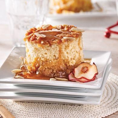 Gâteau-pouding aux pommes, sauce sucre à la crème d'érable