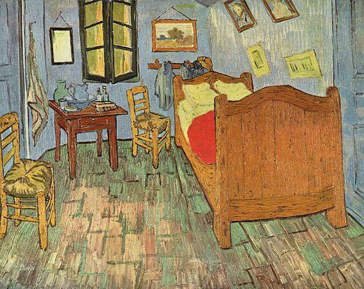 La chambre vincent van gogh postimpressionisme op dit schilderij is een kamer te zien het - Trendy kamer schilderij ...