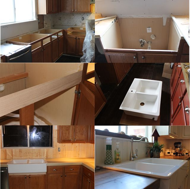 Is It Hard To Install Kitchen Cabinets: Kitchen Remodel, Installing Farmhouse Sink, Cutting And