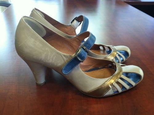 Retro 1940s Style Ankle Strap Tango Shoes 39 | Tango