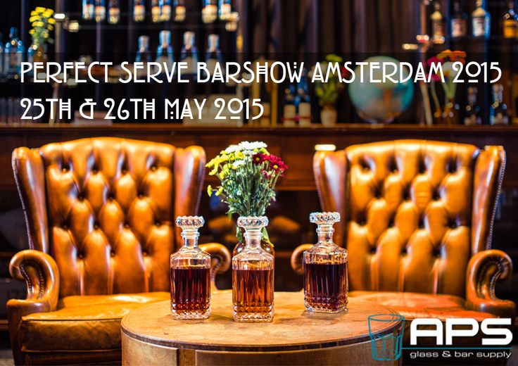 APS Glass & Bar Supply Nederland  is trots om partner te zijn van de 2e editie van Perfect Serve Barshow Amsterdam​. Aankomende maandag en dinsdag wordt de barshow georganiseerd van 12:00u tot 19:00u in WesterLiefde​. Let's meet!