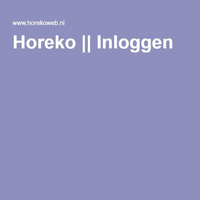 Horeko || Inloggen