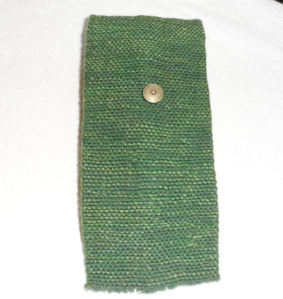 Vintage 1970s Hand Loomed Square Tie/Made in Ste. Madeleine