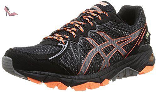 ASICS Gel-Fujitrabuco 3 G-Tx, Chaussures Multisport Outdoor Hommes - Noir  (Black/Titanium/Orange), 40.5 EU (6.5 UK) - Chaussures asics (*Partner-Li…
