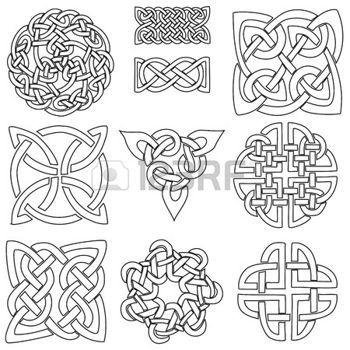 keltisch: ein Satz von zehn keltische Designs findest, die eingefärbt werden