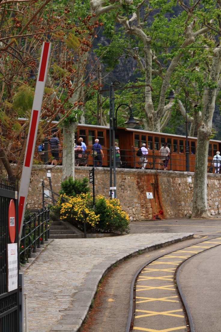 This is one of the stops for the Train at the Port of Soller, where you can take a ride to Soller and back. ----- More Information: http://www.nofrills-excursions.com/excursions-tours-thingstodo/port-alcudia/a-day-in-lluc-and-soller/