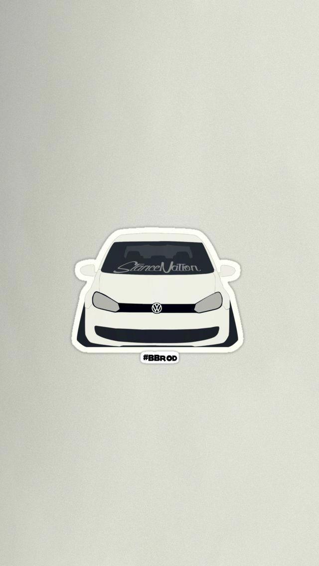 Stance Art Auto Low Vwgolfmk6interior Volkswagen Automotive Artwork Volkswagen Golf