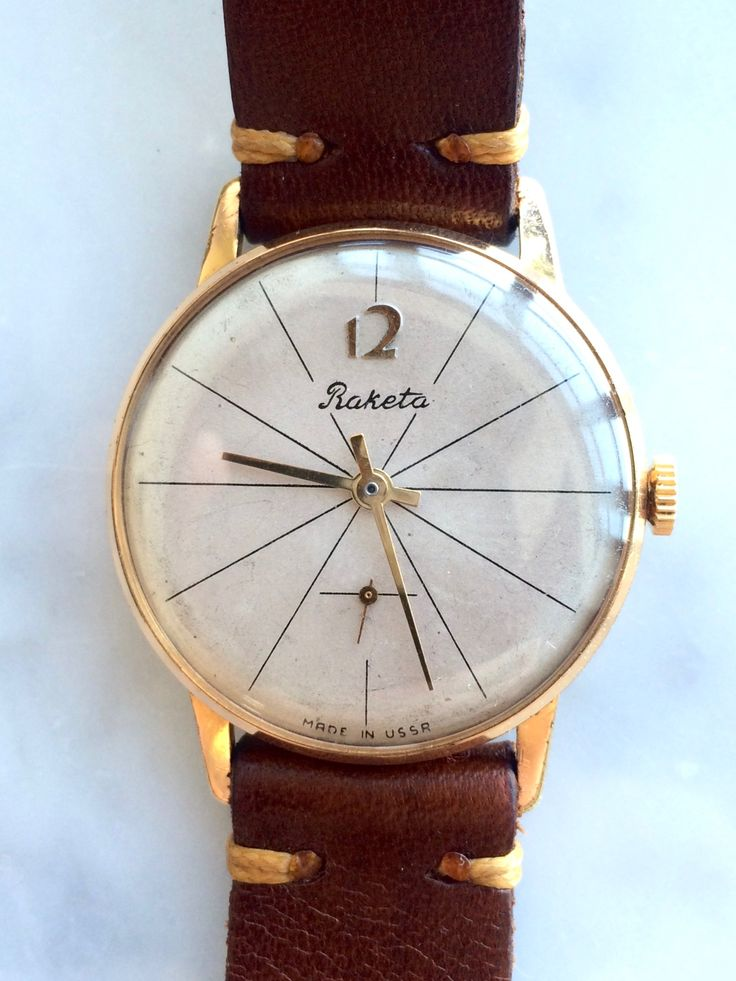 Simple, elegant and affordable vintage Raketa watch.