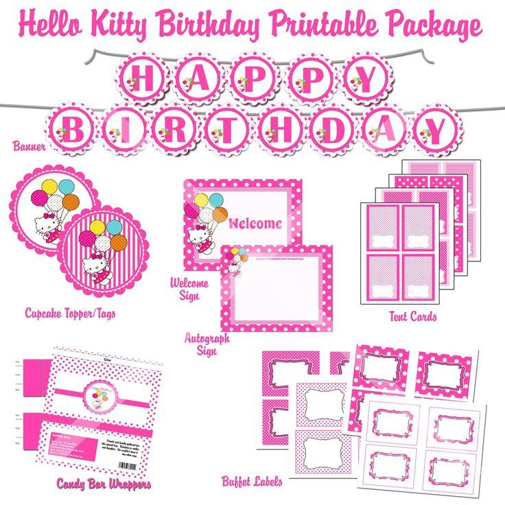 29 best ashleys birthday ideas images on pinterest hello kitty invitation templates
