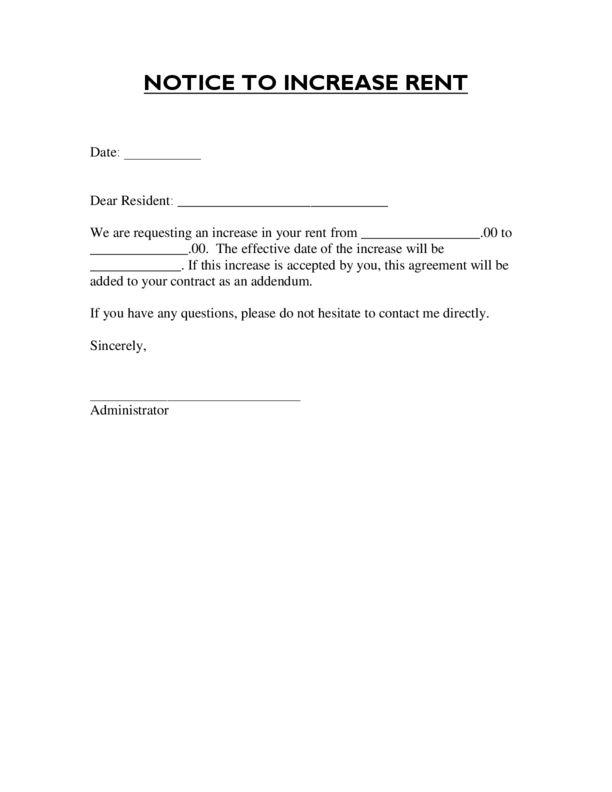 Rent Increase Letter Template Check More At Https Nationalgriefawarenessday Com 49451 Rent Increase Letter Template Letter Templates Lettering Rent