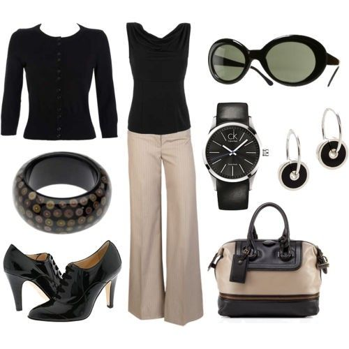 Black and khaki. Another basic, classic look.