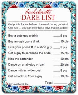 Nasty sex dare task list