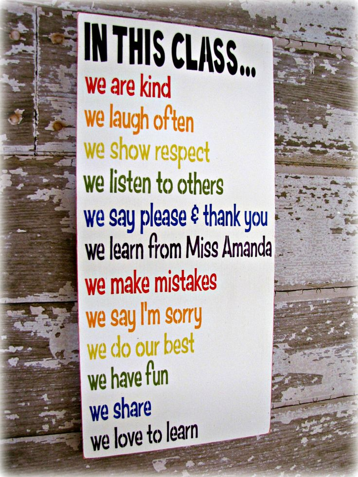 Class Rules Shabby Chic Typography SignIn This by cellardesigns, $92.00
