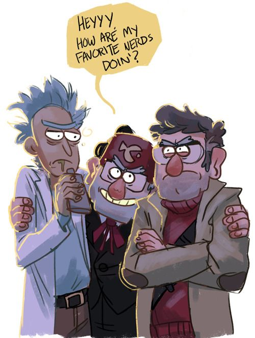 13 Best Rick And Morty And Gravity Falls Images On