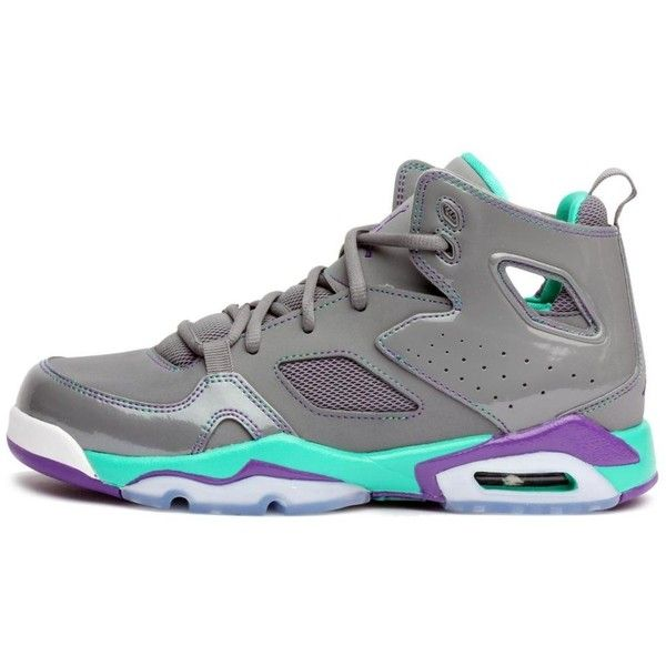 Nike Jordan Girls Flight Club \u002791 Gradeschool (Gs) Grey Ultraviolet.