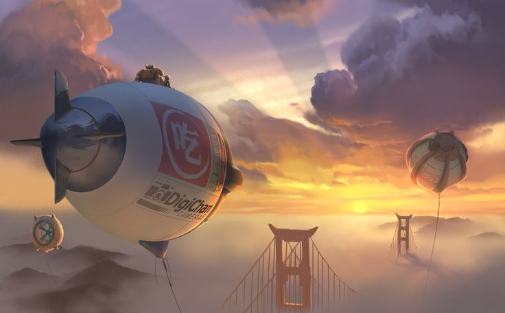 Behold San Fransokyo from Disney's first animated Marvel movie: Big Hero Six