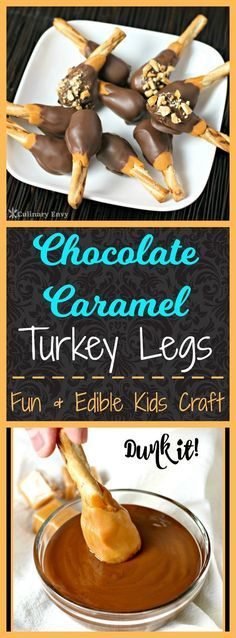 Add a little fun to your Turkey Day this year by having your kids make these yummy, rich and chewy Chocolate Caramel Turkey Legs. It takes only 3 simple ingredients and minutes to make. They'll put a Smile on everyone's face!