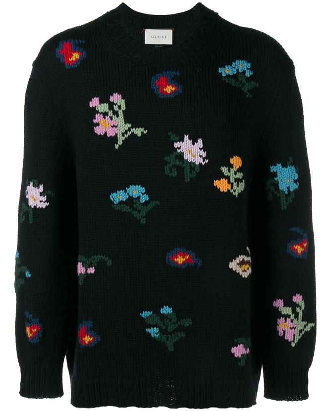GUCCI Embroidered Wool-Bend Sweater. #gucci #cloth #