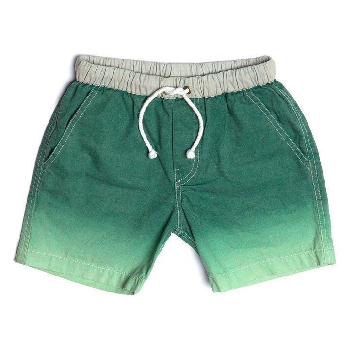 Gradation Boat Shorts, Emerald