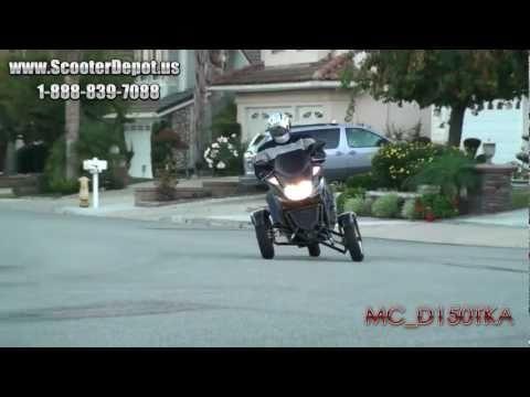 MC_D150TKA  Trike Gas Motor Scooters 150cc 3 Wheels Moped