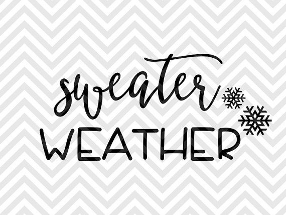 Sweater Weather Winter Christmas hot chocolate snowflake SVG file - Cut File - Cricut projects - cricut ideas - cricut explore - silhouette cameo projects - Silhouette projects by KristinAmandaDesigns