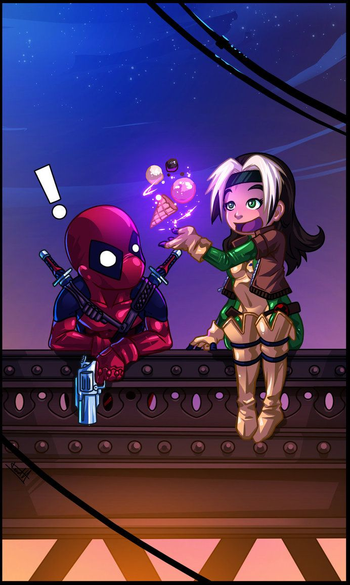 Deadpool and Rogue by *Fred-H on deviantART