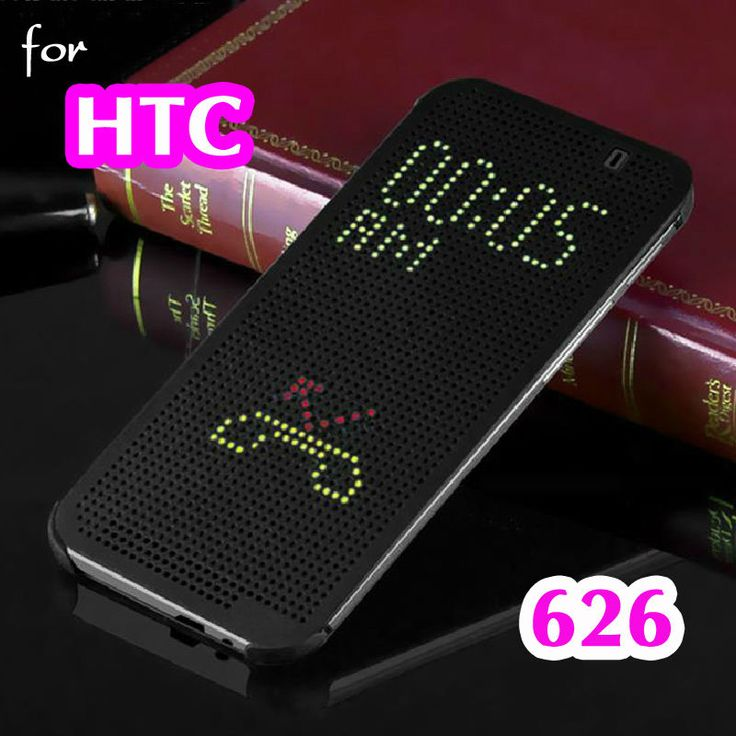 For HTC Desire 626 626W 626D Slim Dot Bag Smart Auto Sleep View Shell Soft Silicone Original Flip Leather Cover Shockproof Case