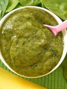 Spinach and Banana Puree