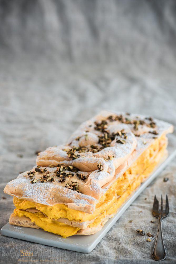 Kürbis-Schicht-Kuchen mit feiner Kürbiscreme