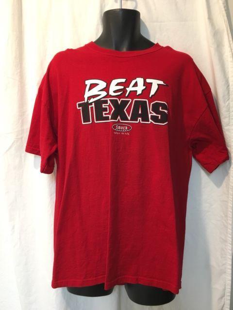 Oklahoma Sooners Red River Rivalry Beat Texas Funny Shirt XL Big 12 Football | eBay