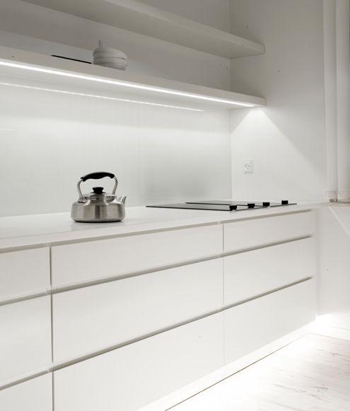 The best of Scandinavian interior design, minimalist modern white kitchen by Norm Arkitekter