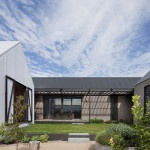 Architecture, Modern Rural House Courtyard: Rural House Design Comes with the Wooden Materials