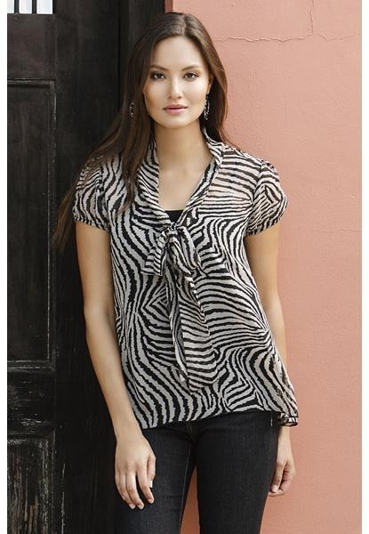 Zebra Chiffon Blouse 7