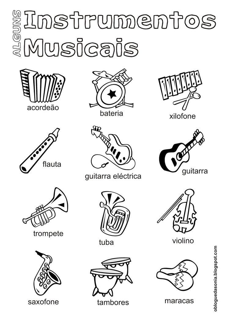atividade de instrumentos musicais - Pesquisa Google