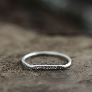 silver signet stardust ring • andrea bonelli