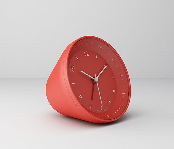 """'Jelly' gravity controlled alarm clock, designed by Stylepie with """"kidults"""" in mind. To snooze, just push and let it roll.  To switch off alarm, turn it face down."""