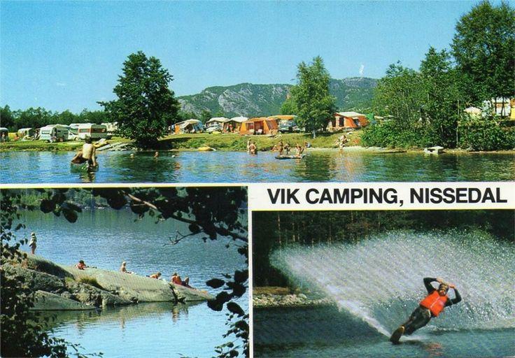 Nissedal i Telemark Vik Camping. 1970-tallet