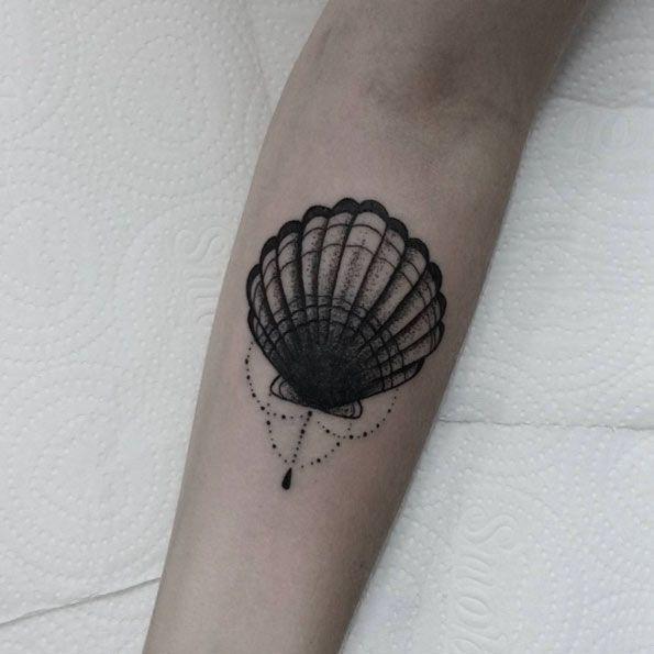 Ornamental Shell Tattoo by Mac