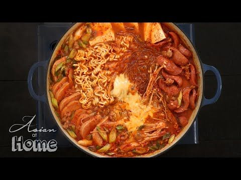 Budae Jjigae, Korean Army Base Stew Recipe & Video - Seonkyoung Longest