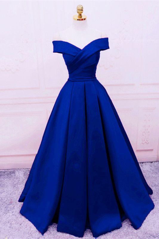 f338987b14 Royal Blue Prom Dresses,Off Shoulder Evening Gowns,Long Prom Dress,Sexy Prom  Dress,Prom Gowns 2019