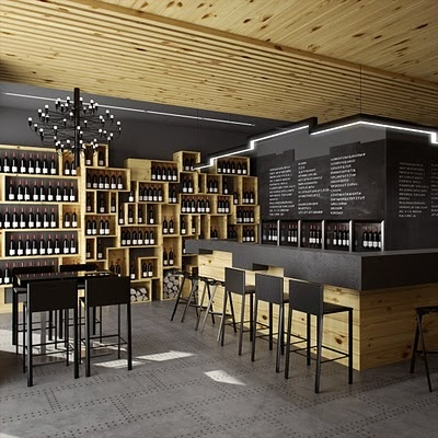 Nice Contrast Of Wine Storage Cabinets With Dark Walls. Retail Design |  Wine Store |