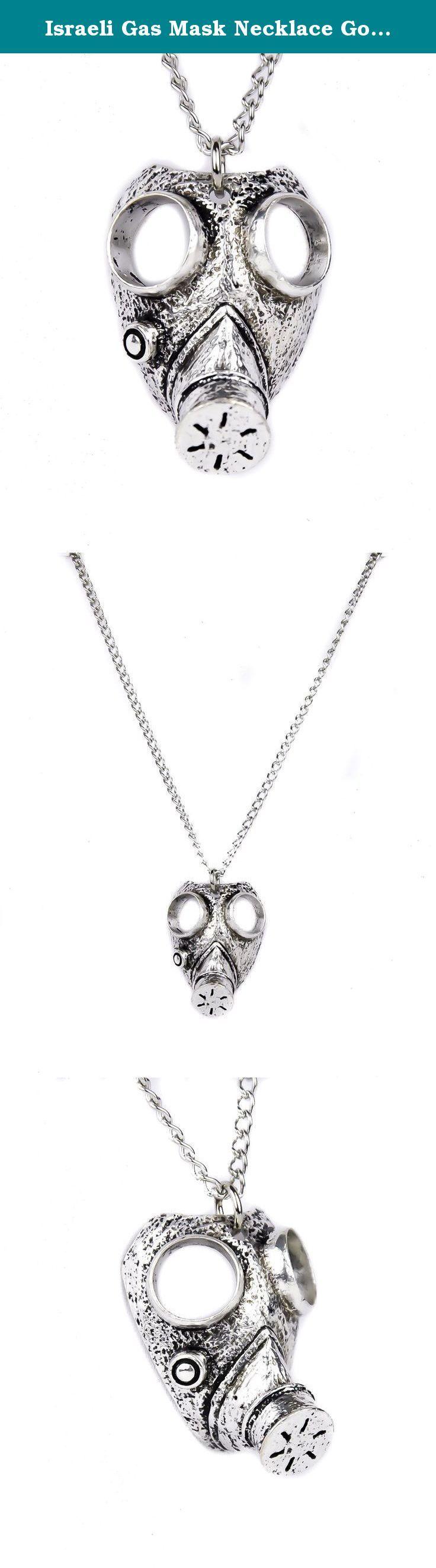 Israeli Gas Mask Necklace Gothic Apocalypse Design. Israeli Gas Mask Necklace. Very Detailed Gothic Design.