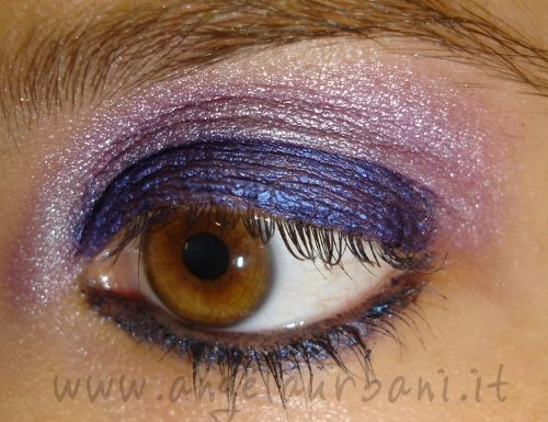 tutorial trucco autunno viola uva Grapes Chromed blu metallico