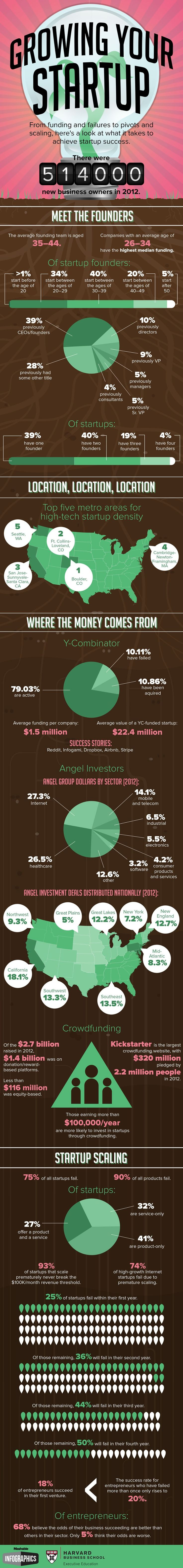 An infographic examining some of the factors that contribute to startup success. #startups #influence #branding