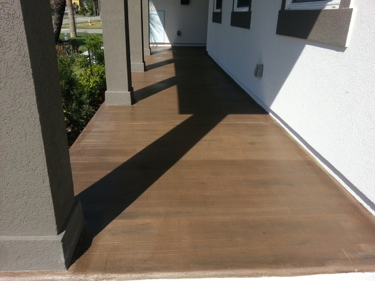 Concrete Faux Wood Floor Jacksonville Beach Fl Rustic