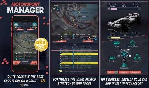 Motorsport Manager - este vandut la oferta pentru iPhone si iPad