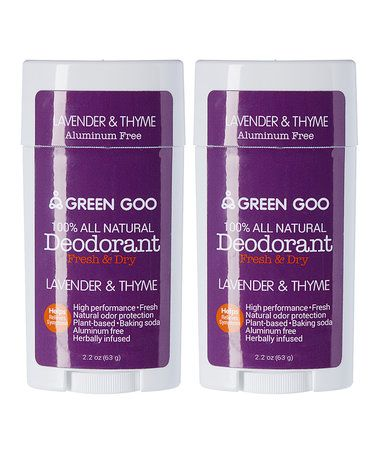 Love this Lavender & Thyme Deodorant Oval Stick - Set of Two on #zulily! #zulilyfinds
