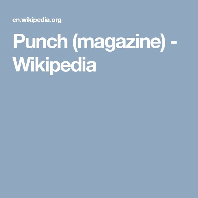 Punch (magazine) - Wikipedia